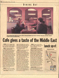 Cafe gives a taste of the Middle East
