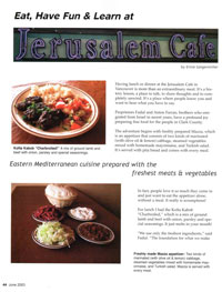 Eat, Have Fun & Learn at Jerusalem Cafe